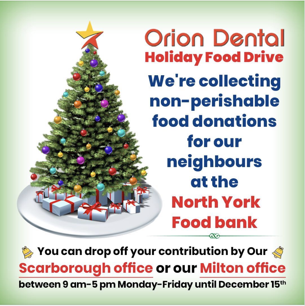Holiday Food Drive Orion dental 2019